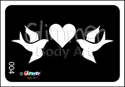 Picture of Heart Doves  BG-04 - (1pc)
