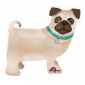 "Picture of Precious Pug AirWalker Balloon Buddies (19""X 17'')"