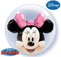 Picture of Minnie Mouse Double Bubble Balloon - 24 Inch