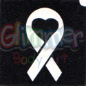 Picture of Ribbon Heart  Stencil - (5pc pack)