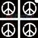 Picture of Mini Peace Sign Stencil (4 in 1) - (5pc pack)