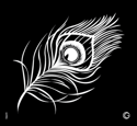 Picture of Essential - HD Stencil - Peacock Feather - E05 (2pc/pk)
