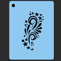 Picture of Accent 1 Stars and Swirls Stencil - SOBA-53