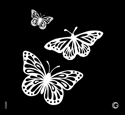 Picture of Essential - HD Stencil - Butterfly Trio - E13 (2pc/pk)