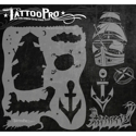 Picture of Tattoo Pro Stencil - Ship & Anchor (ATPS-107)