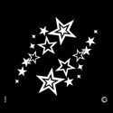 Picture of Essential - HD Stencil - Twin Stars - E16 (2pc/pk)