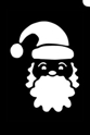 Picture of Santa Face Stencil (1pc)