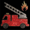 Picture of Firetruck - Sparkle Stencil (1pc)