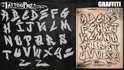 Picture of Tattoo Pro Stencil Font - Graffiti 1 (ATPS-Graffiti1)