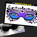 Picture of Mardi Gras Stencil Eyes - 82SE