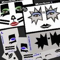 Picture of Rock Star 3 & 4 Stencil Eyes - 74/75SE