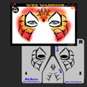 Picture of Web Warrior Stencil Eyes - 96SE