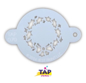 Picture of TAP 070 Face Painting Stencil - Christmas Wreath with Bow