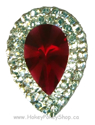 Picture of Double Teardrop Gems - Red - 13x18mm (8 pc.) (SG-DTR)