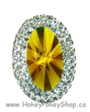 Picture of Double Oval Gems - Yellow - 18x25mm (3 pc.) (SG-DO4)