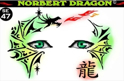 Picture of Norbert Dragon Stencil Eyes - 47/48SEc - (Child Size 4-7 YRS OLD)