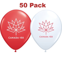 Picture of 11 Inch - Canada 150 Logo Licensed Balloons (50/bag)