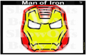 Picture of Man of Iron Stencil Eyes - SE - (Child Size 4-7 YRS OLD)