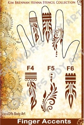 Picture of Henna Stencil 9 - Finger Accents F4, F5, F6 - SOBA