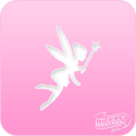 Picture of Pink Power Face Painting Stencil (1113) - Fairy 2