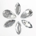 Picture of Jumbo Gems - Clear - From 1.25x2.5cm to 2.5x4.5cm (6 pcs.) (AG-C2)