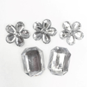 Picture of Jumbo Gems - Clear - From 2x2cm to 1.75x2.5cm (5 pcs.) (AG-C4)