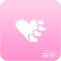 Picture of Pink Power Face Painting Stencil (1016) - Hearts