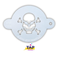Picture of TAP 044 Face Painting Stencil - Skull with Crossbones