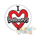 Picture of Sticker Roll - I <3 Balloons - 250/roll