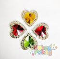 Picture of Double Heart Gems - Festive Assortment - 16mm (7 pc.) (AG-DH2)