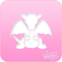 Picture of Pink Power Face Painting Stencil (1007) - Dragon