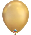 "Picture of 11"" Chrome GOLD round balloons - 100 count"