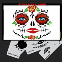 Picture of SUGAR SKULL TEA ROSE Stencil Eyes - SOBA - (Child Size 4-7 YRS OLD)