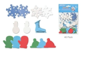 Picture of Foam-Fun Glitter Sticker Shapes - Snowflake Winter Wonderland (KX082)