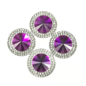 Picture of Double Round Gems - Purple - 20mm (4 pc.) (SG-DRPL)
