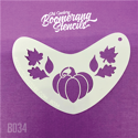 Picture of Art Factory Boomerang Stencil - Pumpkin & Leaves Fall Crown (B034)