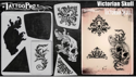 Picture of Tattoo Pro Stencil -  Victorian Skull (ATPS190)