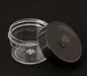 Picture of Empty Clear Thin Wall Jar w/ Black Lid - 15 ml