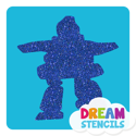 Picture of Inukshuk #1 - Glitter Tattoo Stencil - HP-118 (5pc pack)