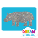 Picture of Hippopotamus Glitter Tattoo Stencil - HP-12 (5pc pack)