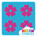 Picture of Mini 4 in 1 Flower Glitter Tattoo Stencil - HP-74 (5pc pack)