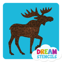 Picture of Moose Glitter Tattoo Stencil - HP-124 (5pc pack)