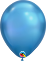 "Picture of 7"" Qualatex Chrome Blue round balloons - (100/bg)"