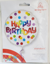 Picture of 17''Happy Birthday Dots of Color (1pc)