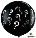 Picture of Qualatex 3FT Round - Question Marks Balloon (2/bag)