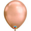 "Picture of 11"" Chrome Rose Gold round balloons - 100 count"