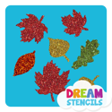 Picture of Tree Leaves Glitter Tattoo Stencil - HP-160 (5pc pack)