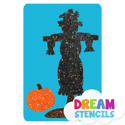 Picture of Scarecrow with Pumpkin Glitter Tattoo Stencil - HP-162 (5pc pack)