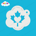 Picture of Canada Maple Leaf Heart - Dream Stencil - 03