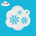 Picture of Snowflake Cluster - Dream Stencil - 62